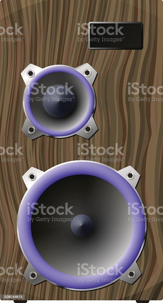 Speaker vector art illustration