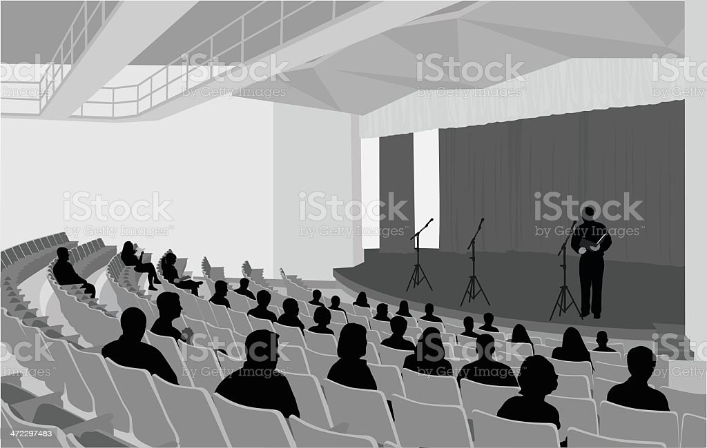 Speaker Vector Silhouette vector art illustration