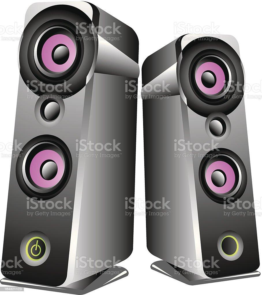 Speakers vector art illustration