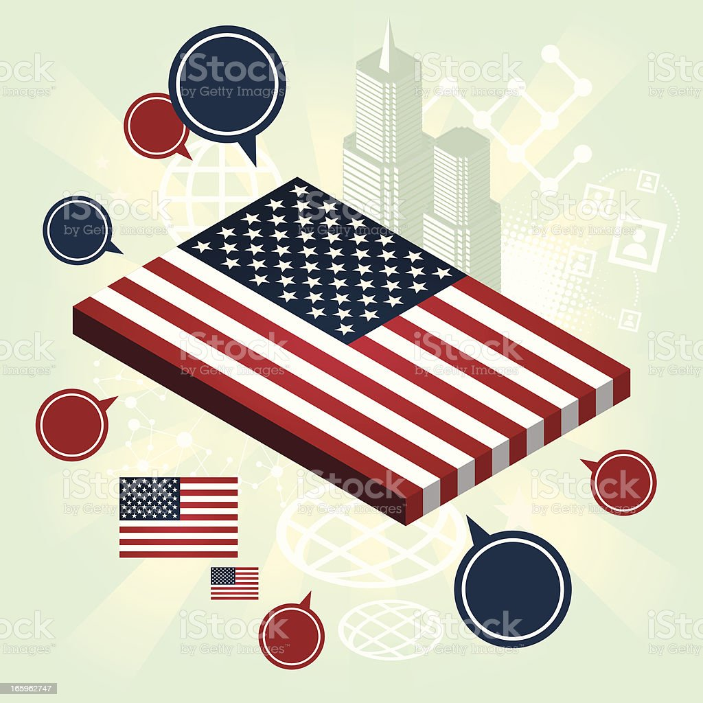 Speaking about USA royalty-free stock vector art