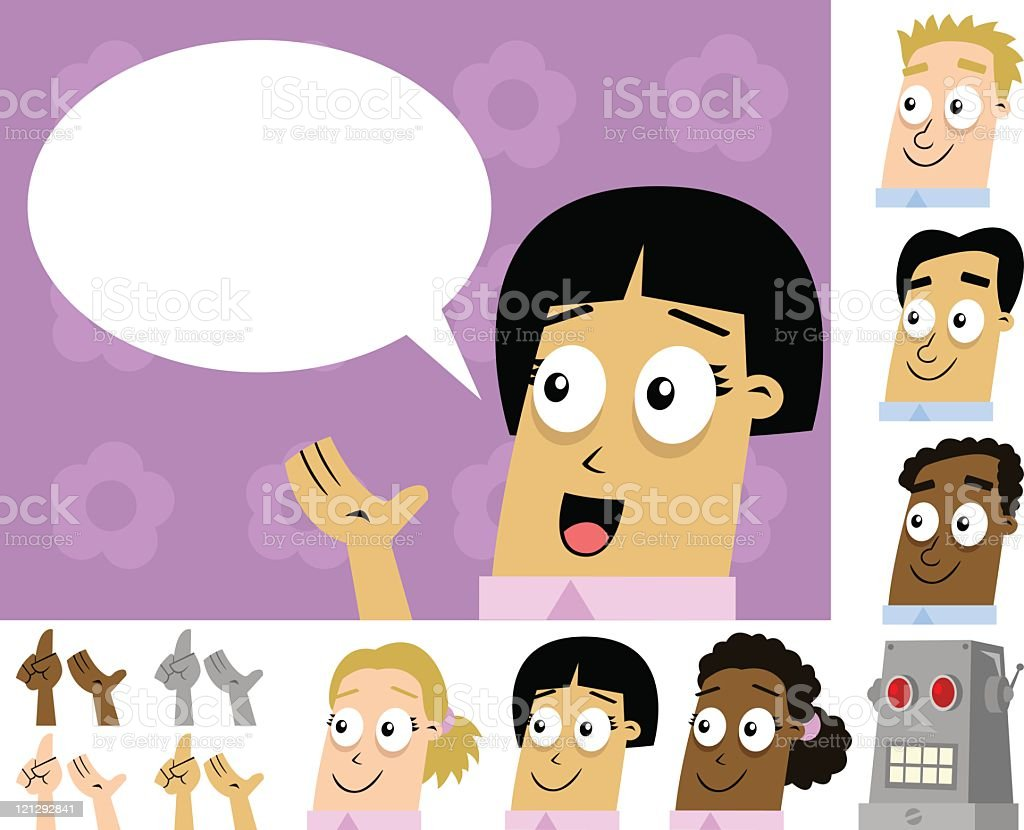 Speaking Characters royalty-free stock vector art
