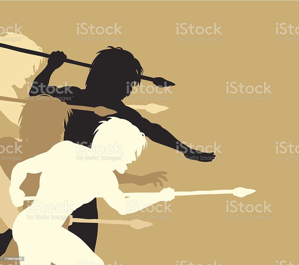 Spearmen royalty-free stock vector art