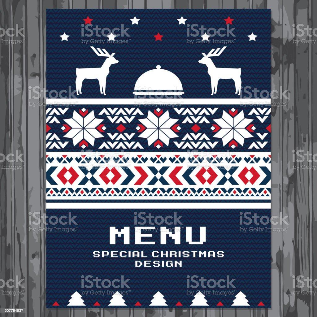 Special Christmas festive menu design royalty-free stock vector art