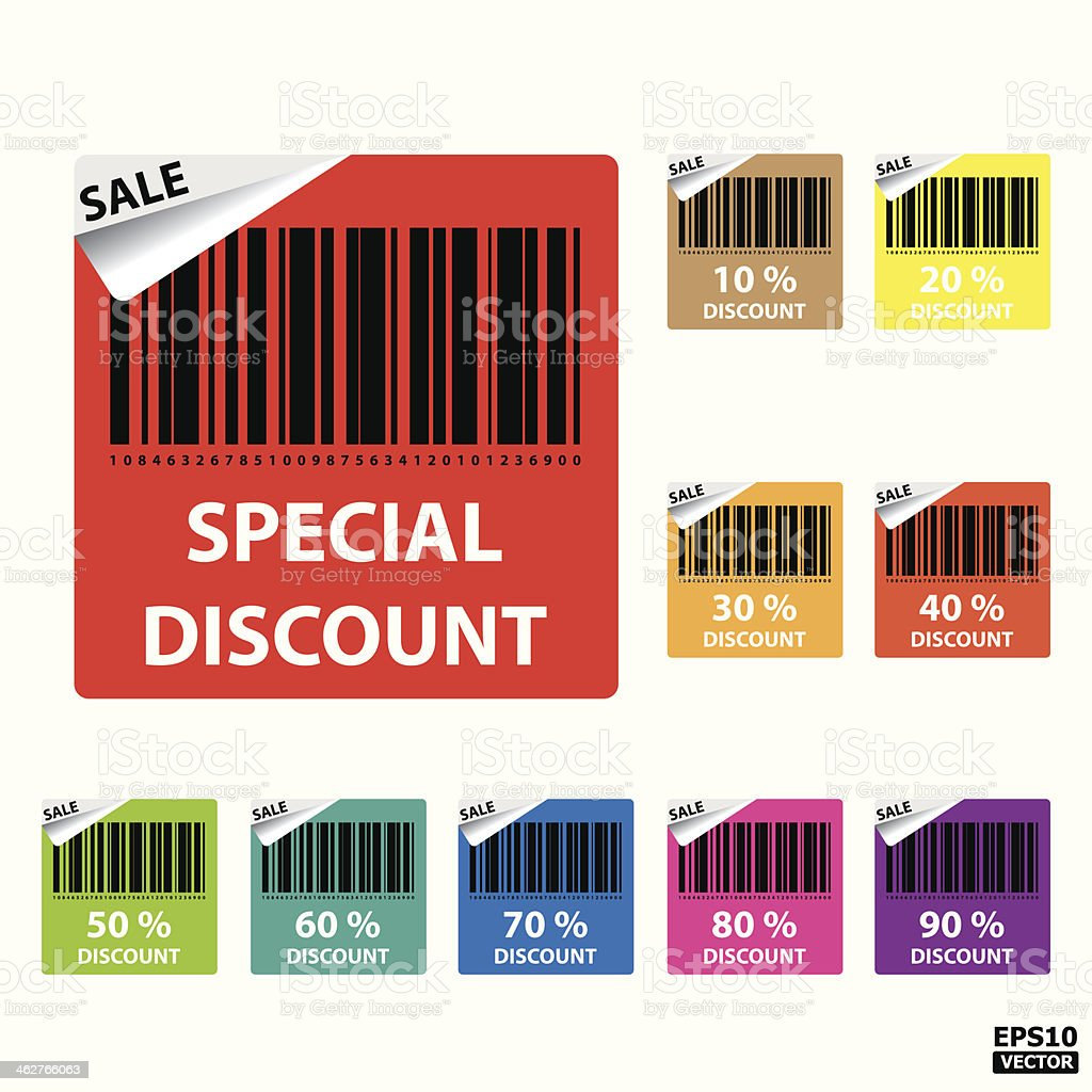 Special discount stickers. royalty-free stock vector art
