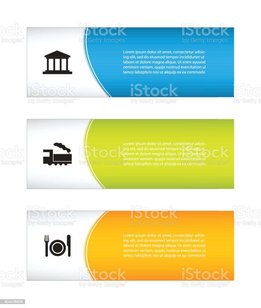special holiday banners, tourist flyer design vector art illustration