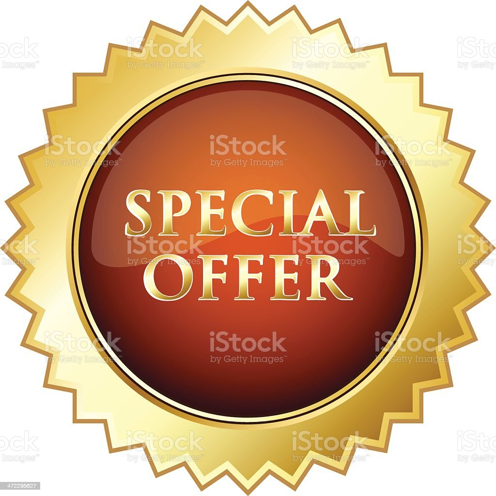 Special Offer Advertisement Shield royalty-free stock vector art