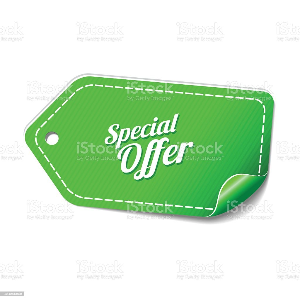 Special Offer Green Vector Icon Design vector art illustration