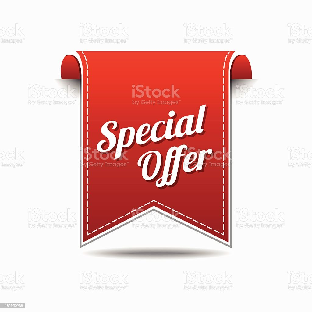 Special Offer Red Vector Icon Design vector art illustration