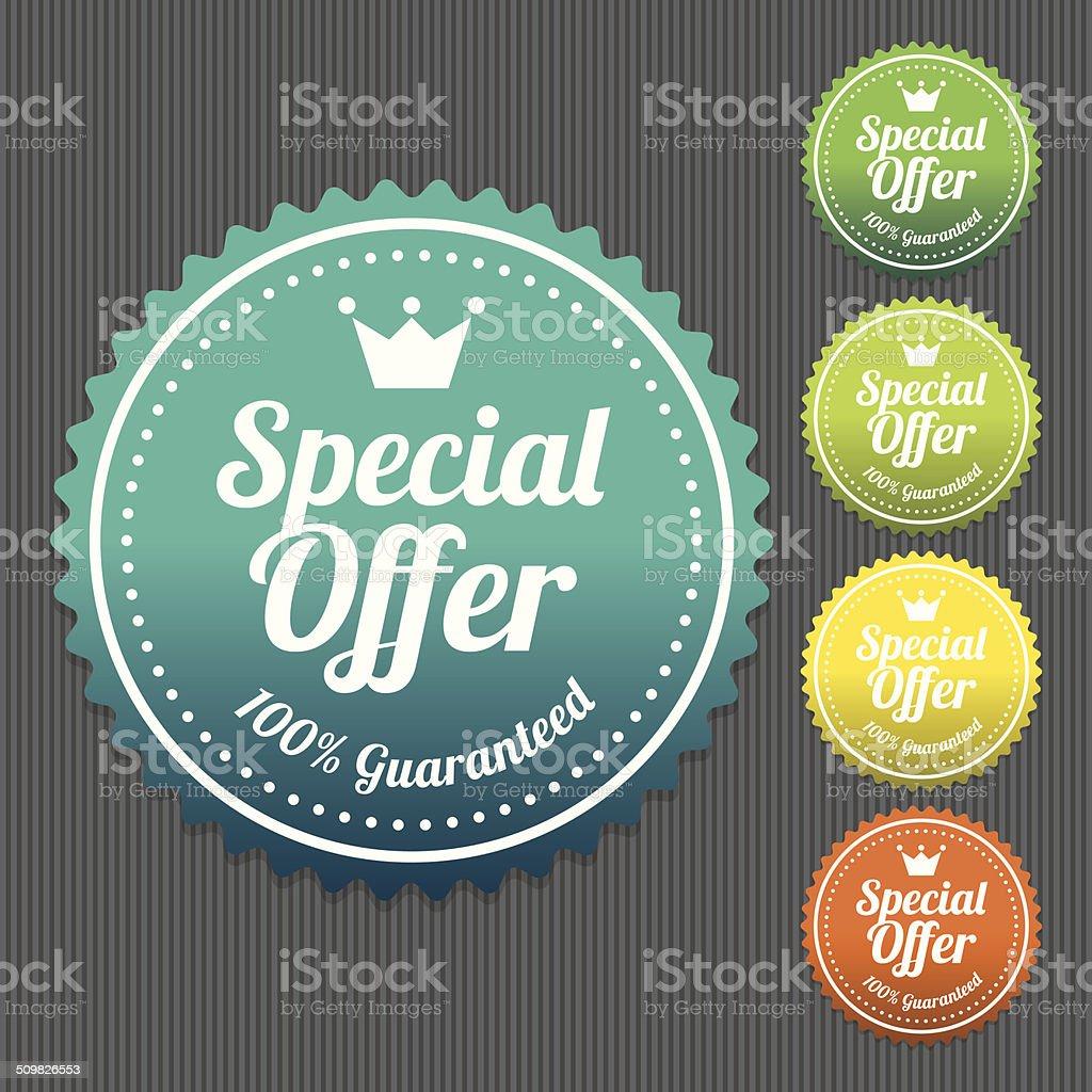 Special Offer Sticker vector art illustration