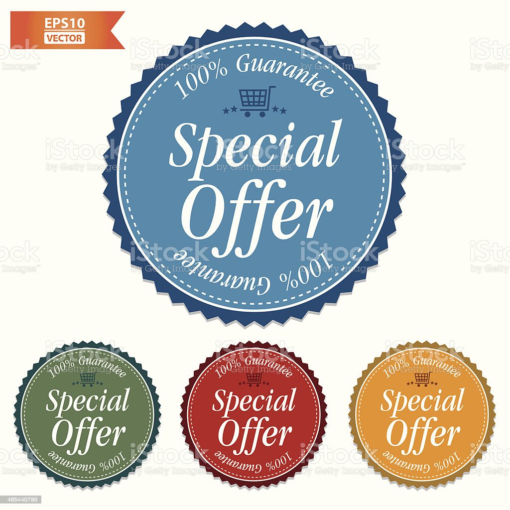 Special Offer Stickers set. royalty-free stock vector art