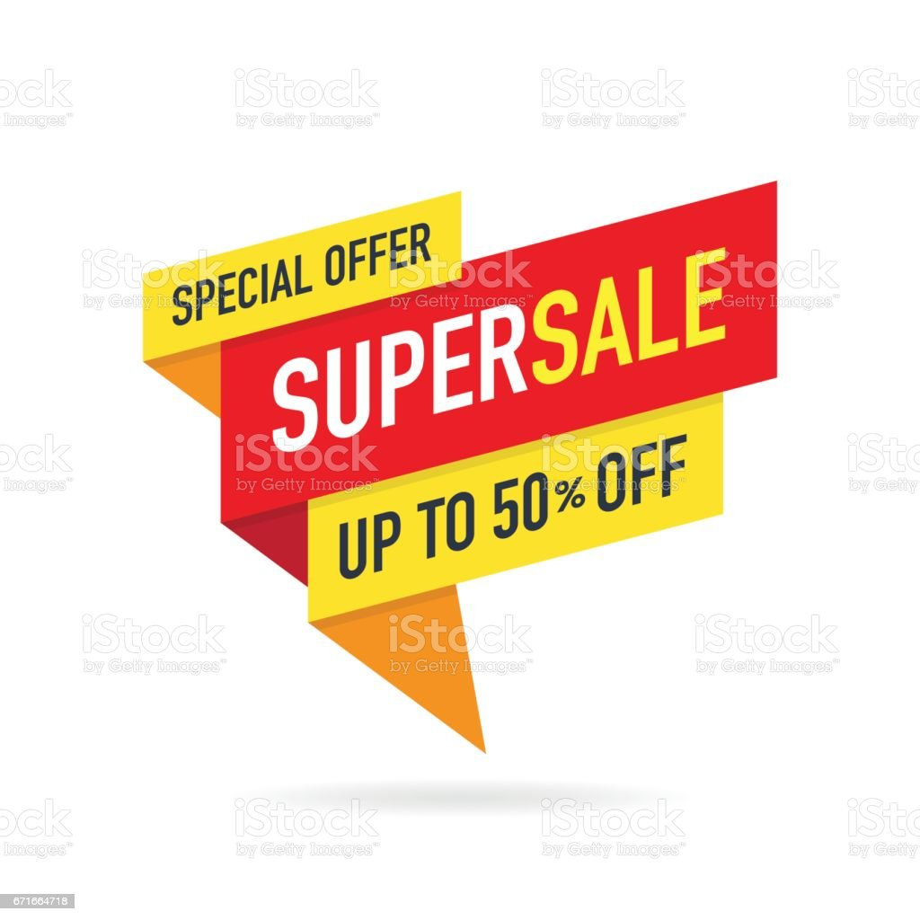 Special Offer Super Sale Banner vector art illustration