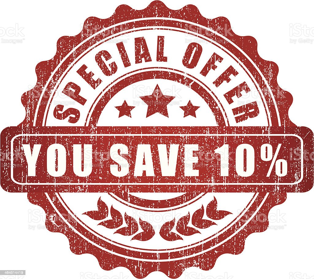 Special offer you save 10% - VECTOR royalty-free stock vector art