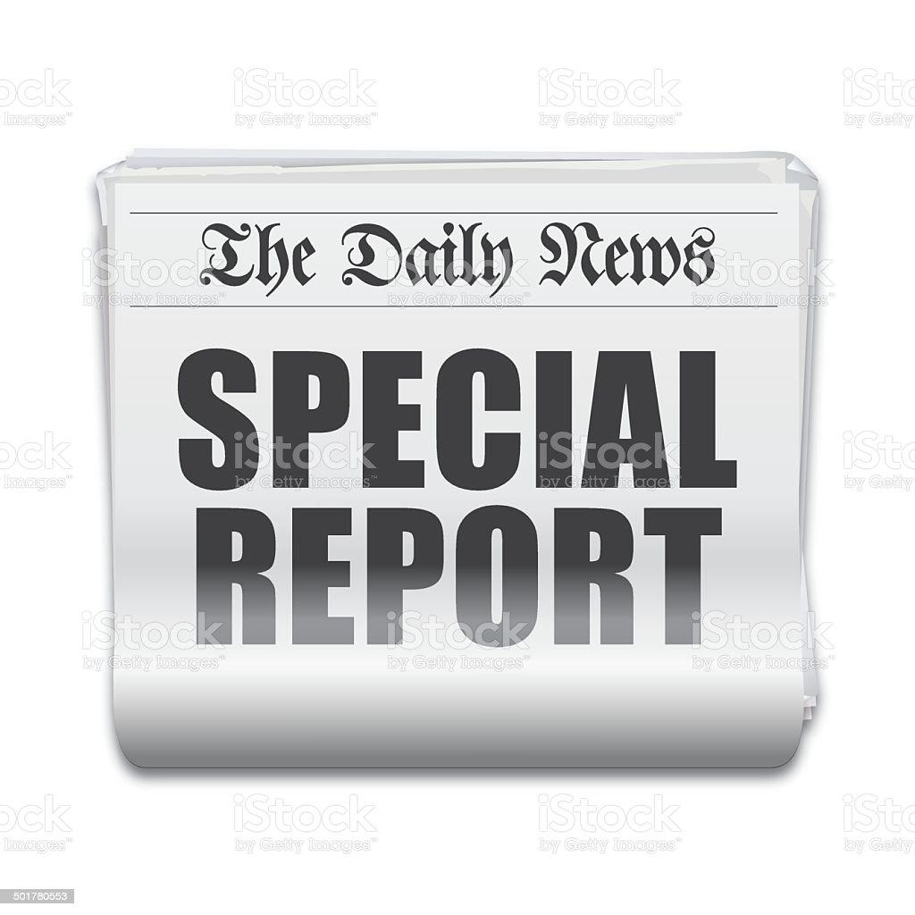 Special report headline vector art illustration