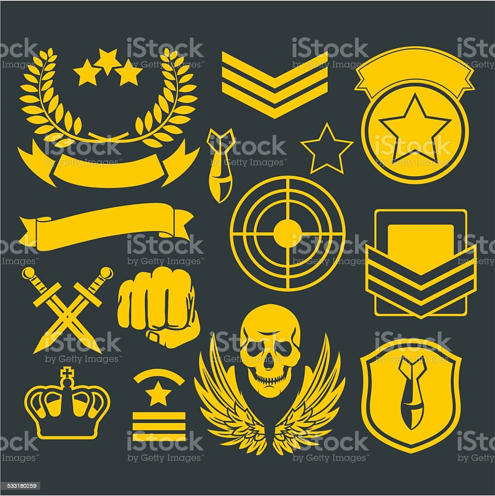 Special unit military patch vector art illustration