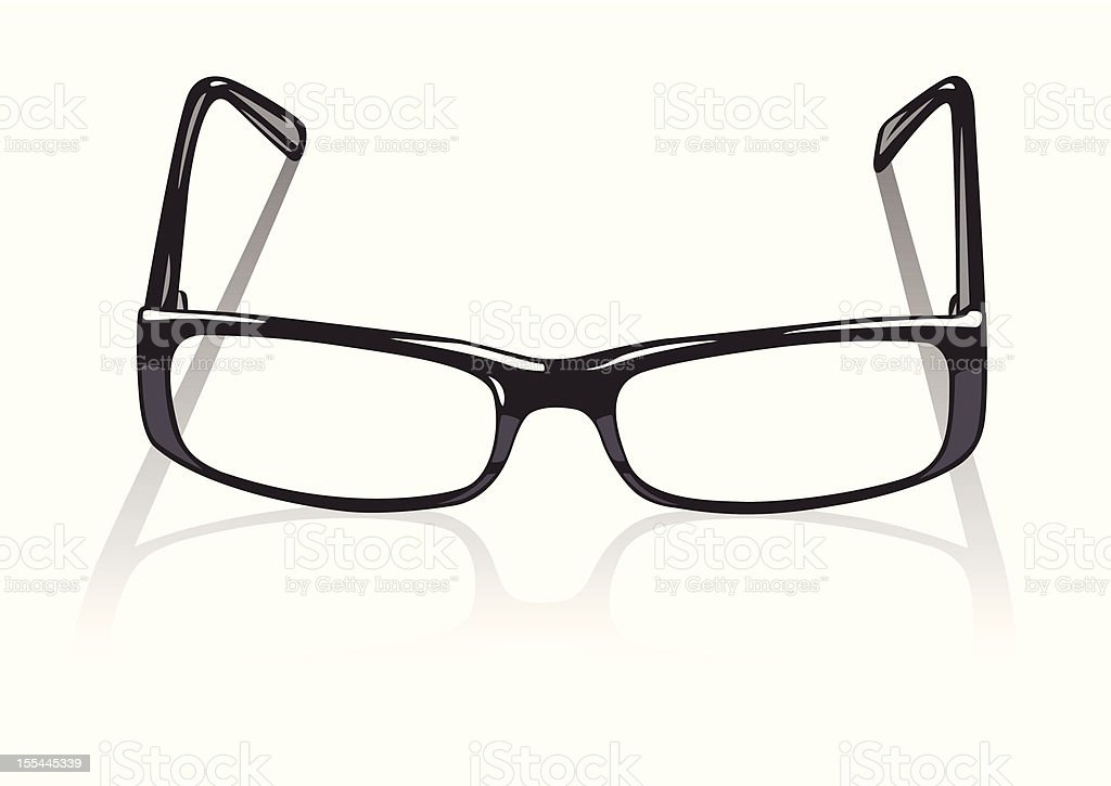 spectacles  against white background royalty-free stock vector art