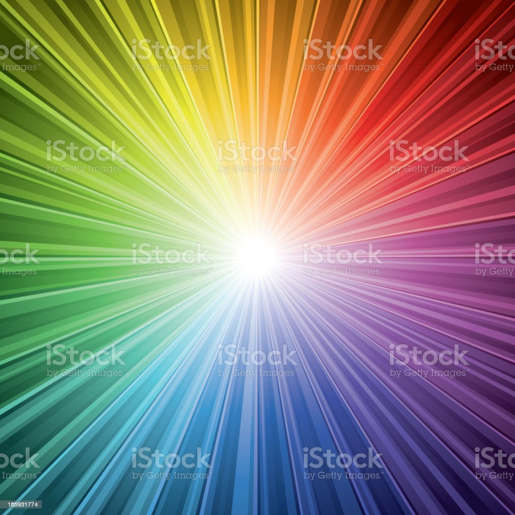 Spectrum light Burst Background royalty-free stock vector art