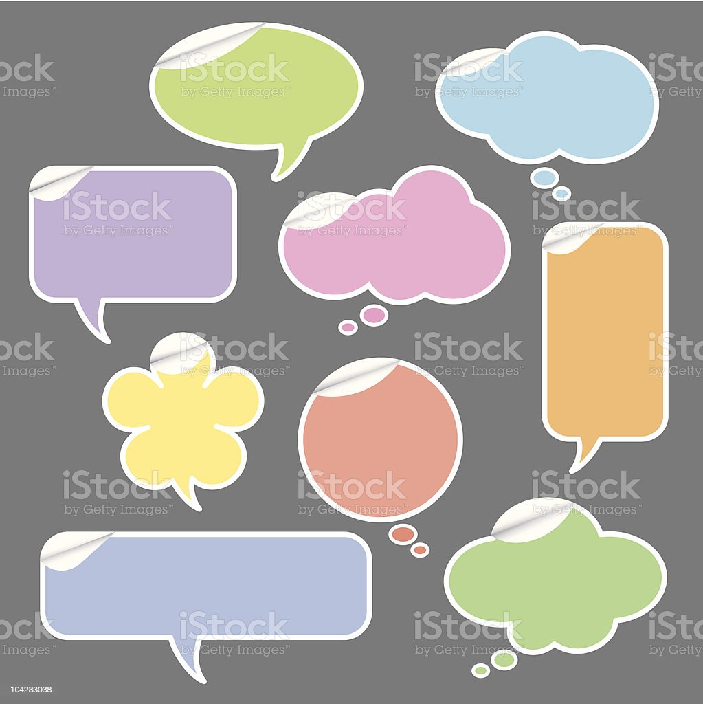 Speech and Thought Bubbles royalty-free stock vector art