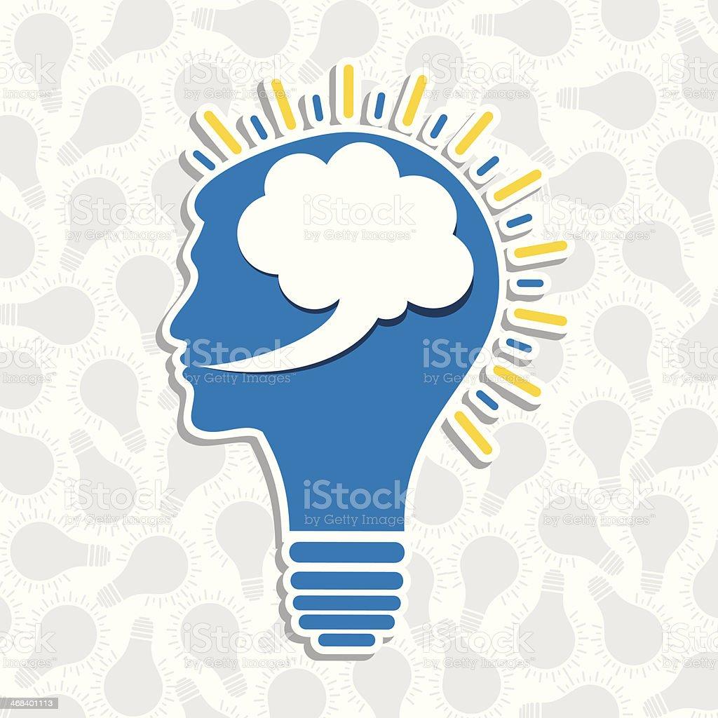 speech bubble bulb royalty-free stock vector art