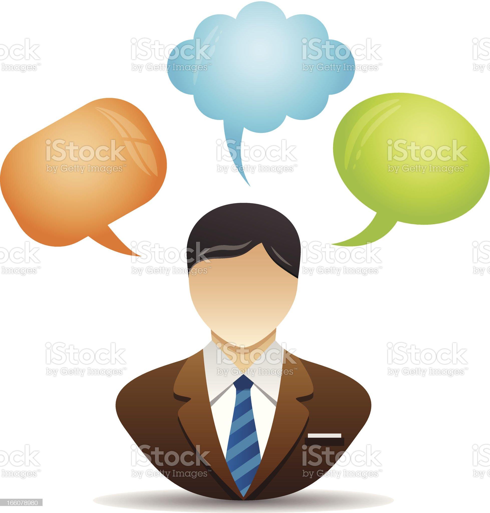Speech bubble -Business man royalty-free stock vector art