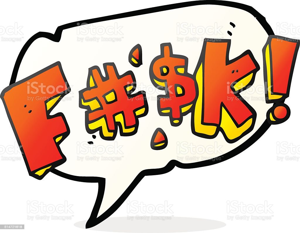 speech bubble cartoon swearword vector art illustration