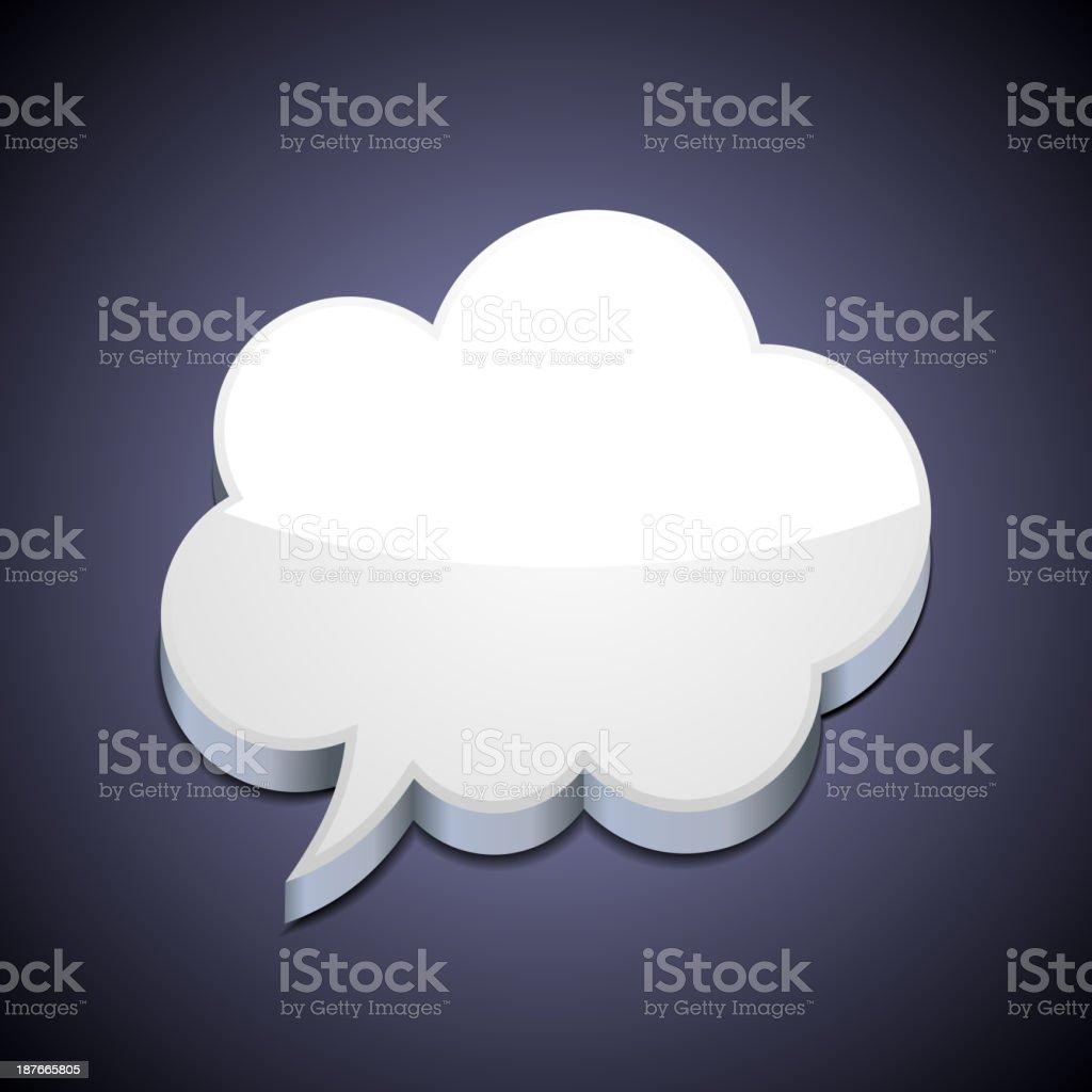 Speech Bubble Cloud royalty-free stock vector art