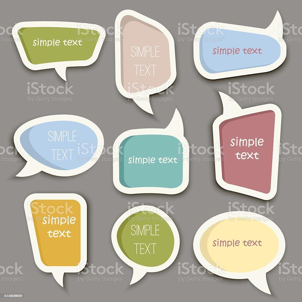 Speech bubble cut paper design template vector. vector art illustration