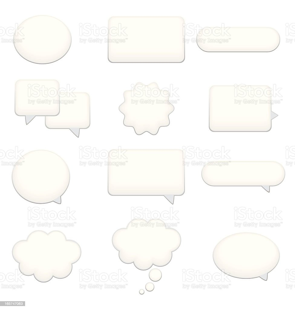 Speech Bubble, Dialog and Caption Box Icon Set royalty-free stock vector art