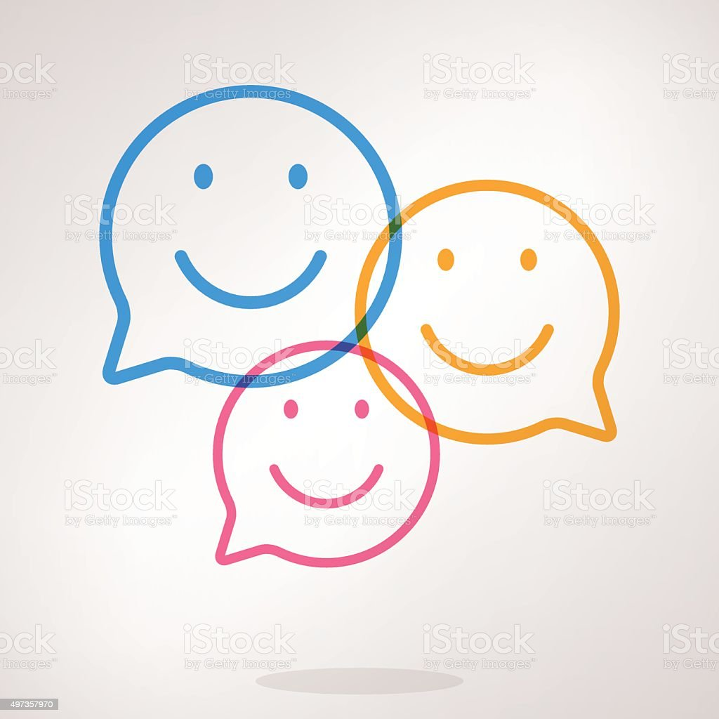 Speech bubble emojis vector art illustration