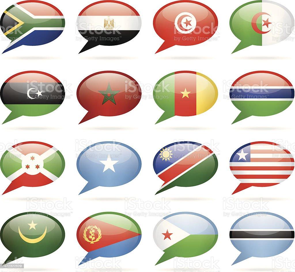 Speech Bubble Flags - Africa royalty-free stock vector art