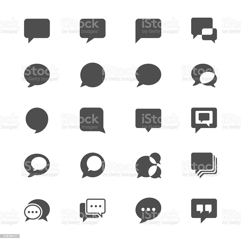 Speech bubble flat icons vector art illustration