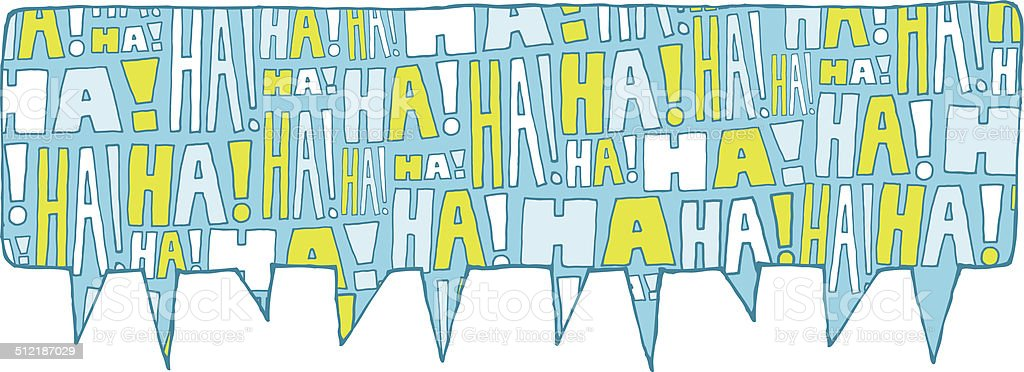Speech bubble group laughter vector art illustration
