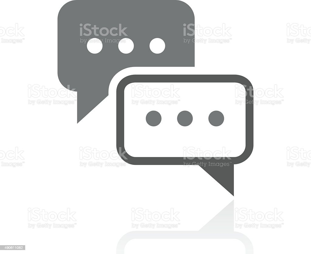 Speech Bubble icon on a white background. - ProSeries vector art illustration