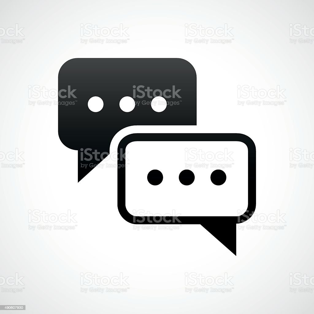 Speech Bubble icon on a white background. - ShadeSeries vector art illustration