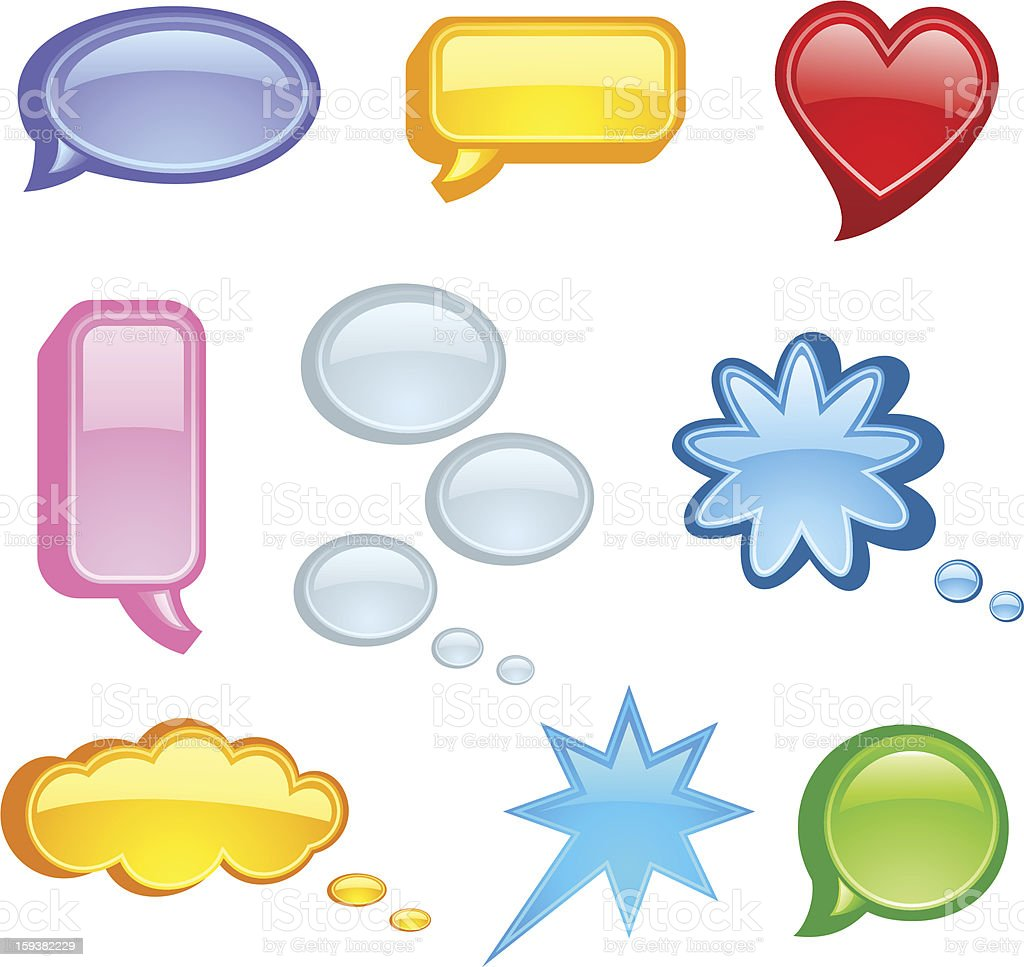 Speech bubble icon set royalty-free stock vector art