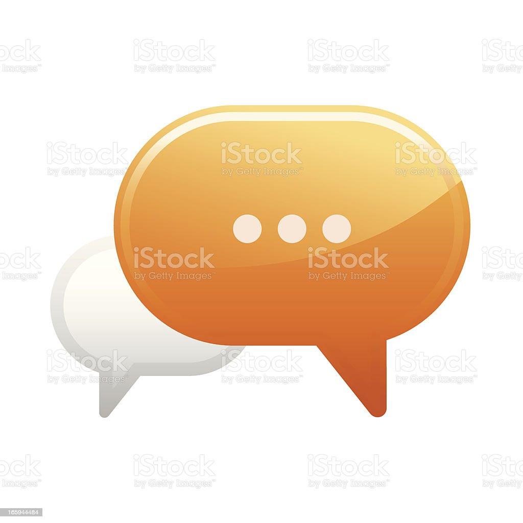 Speech bubble icon royalty-free stock vector art