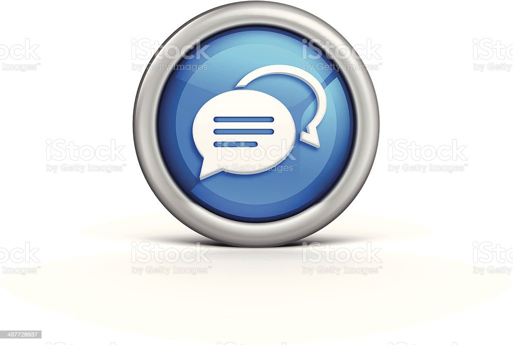 Speech Bubble Icon royalty-free stock vector art
