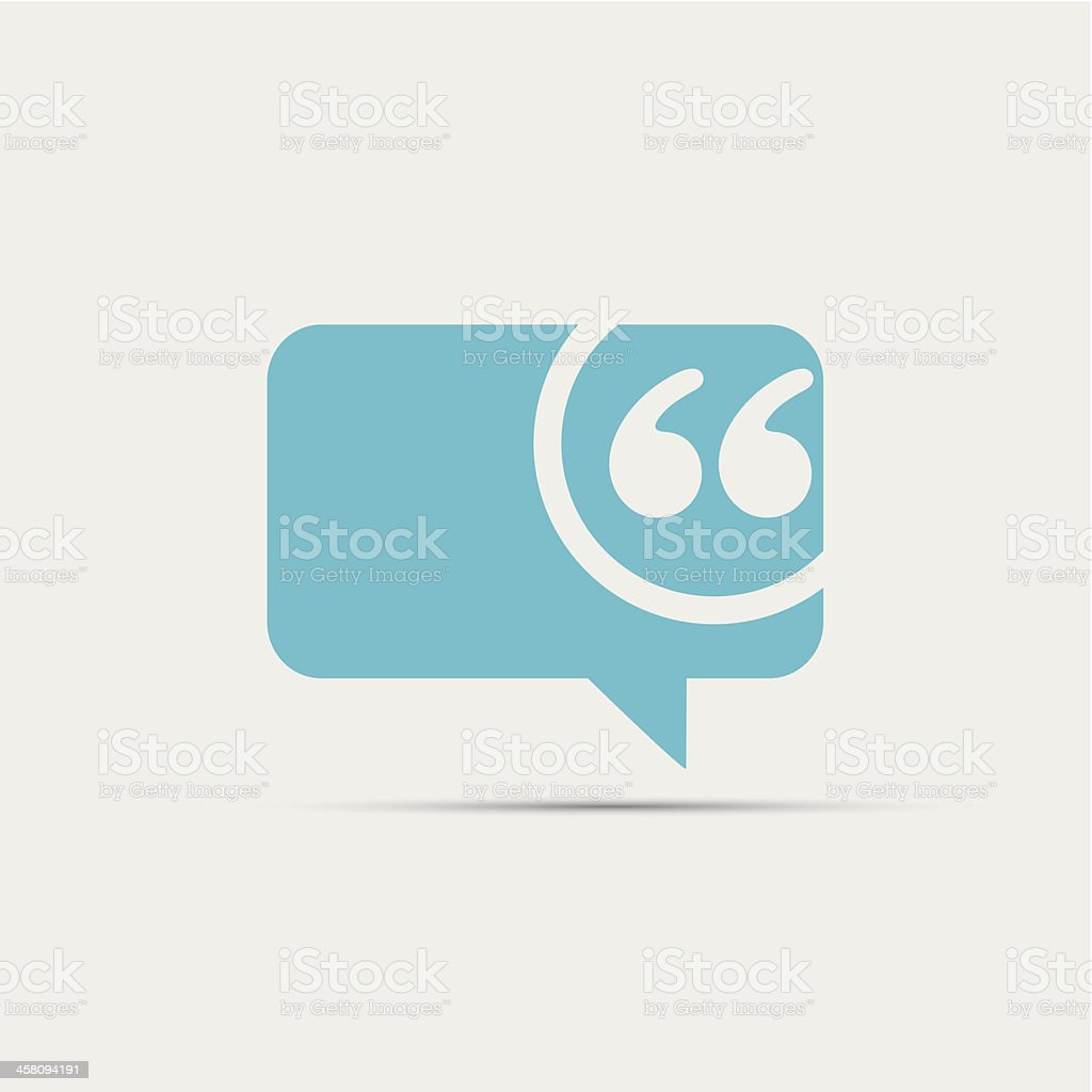 Speech bubble icon vector art illustration