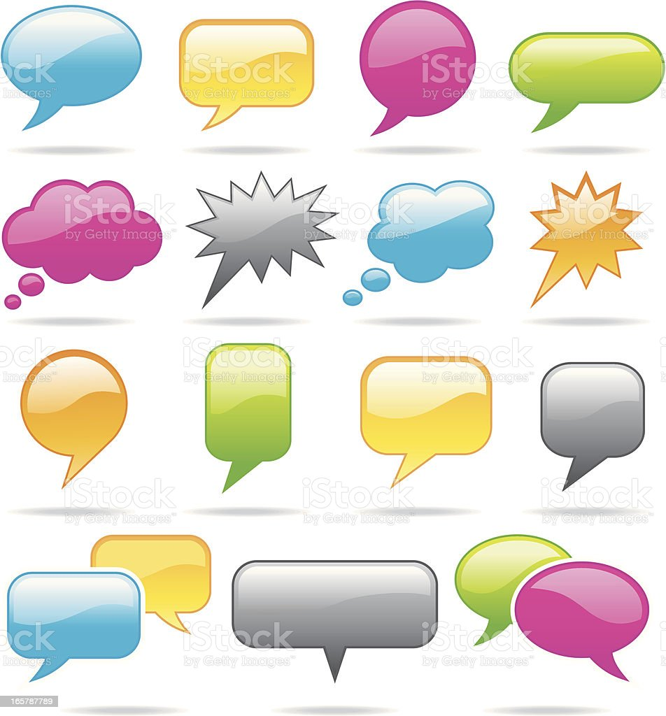 Speech Bubble Icons royalty-free stock vector art
