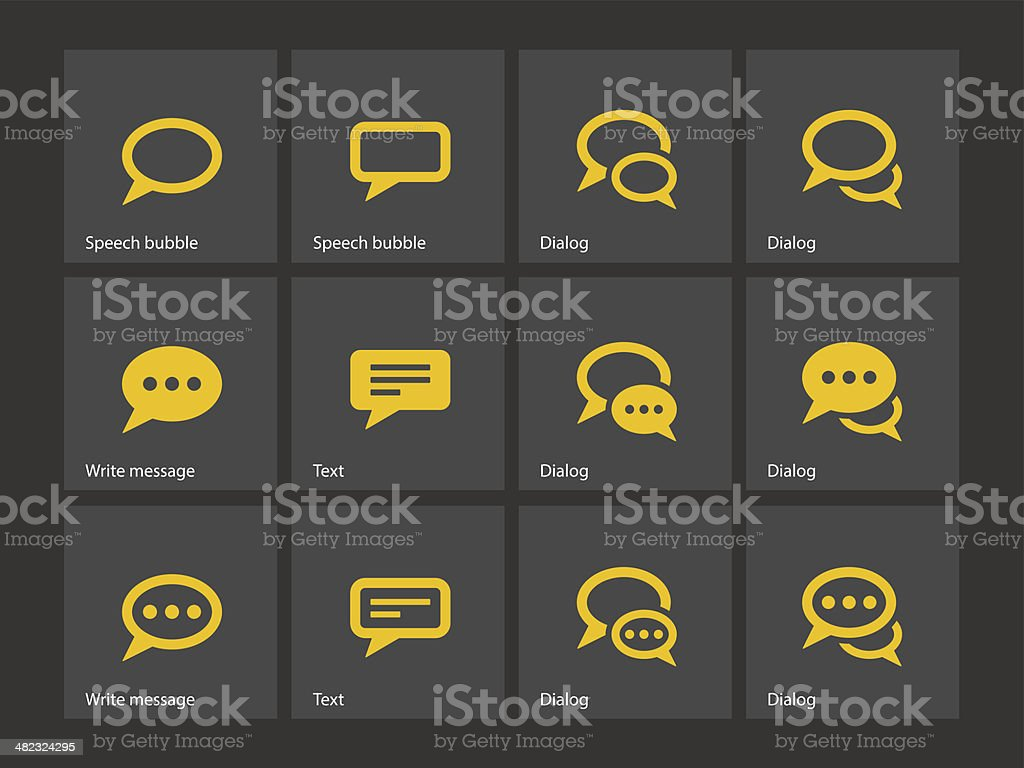 Speech bubble icons. vector art illustration