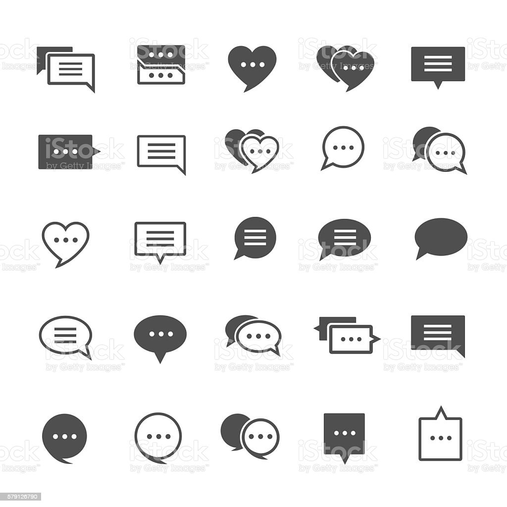 Speech bubble icons vector art illustration