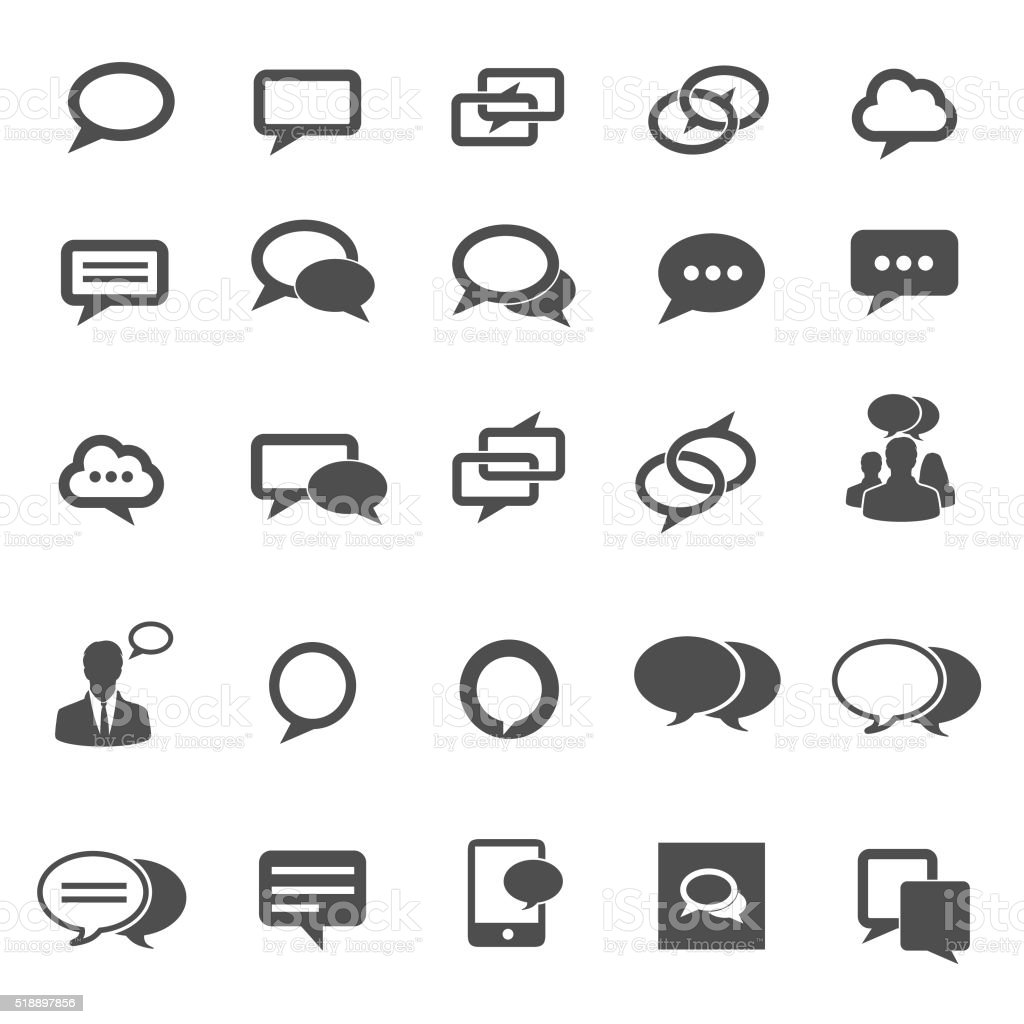 Speech bubble icons. Vector illustration vector art illustration