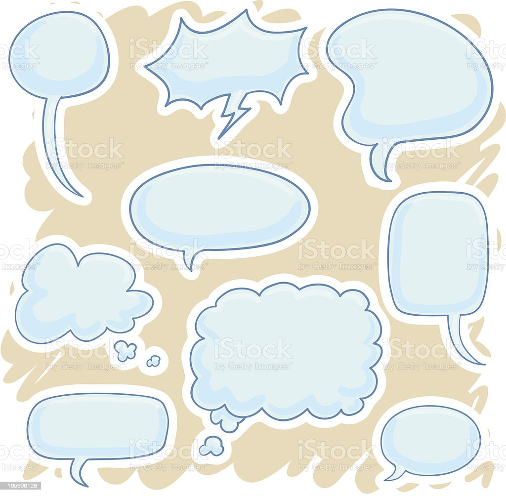 Speech bubble in catoon style royalty-free stock vector art