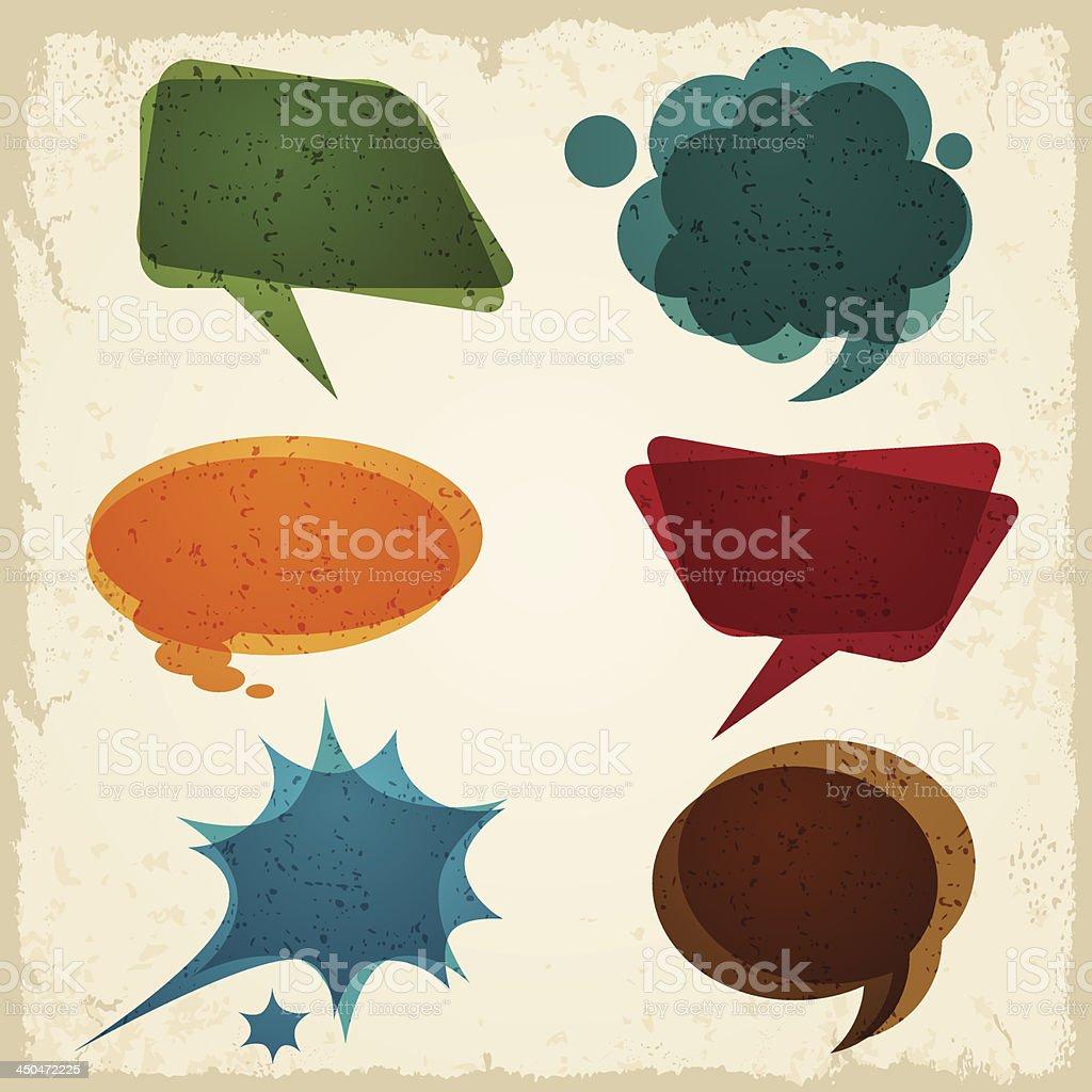 Speech bubble in retro style. royalty-free stock vector art
