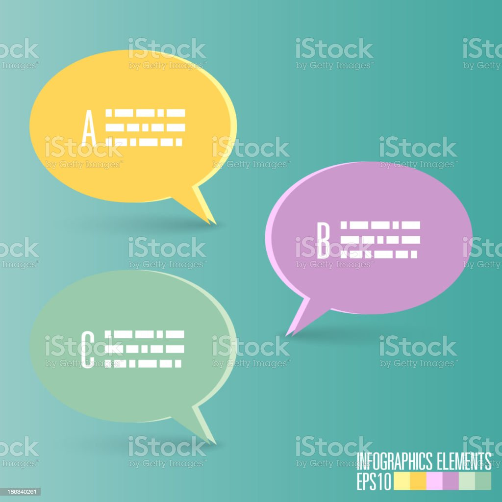 Speech bubble Infographic template royalty-free stock vector art