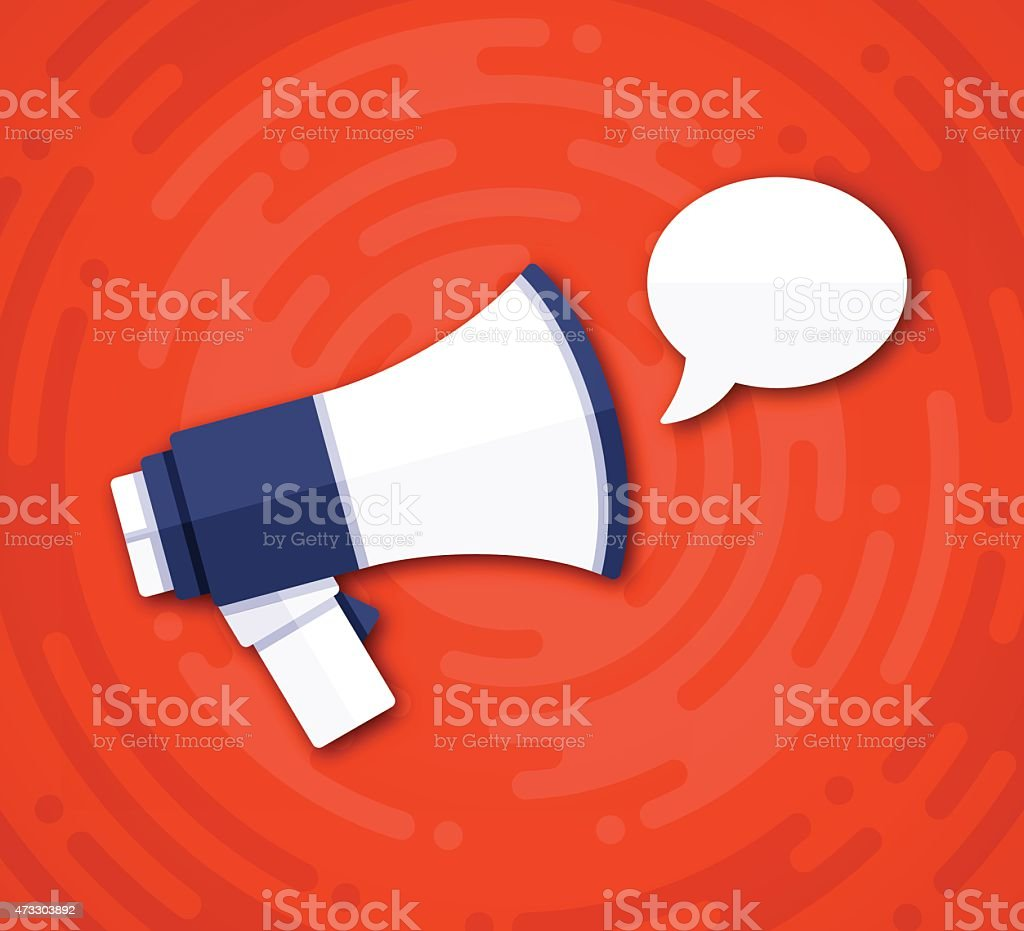 Speech Bubble Message Bullhorn vector art illustration