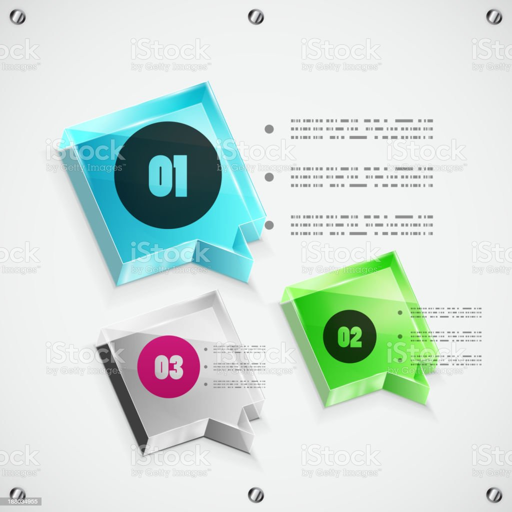 Speech bubble option design royalty-free stock vector art