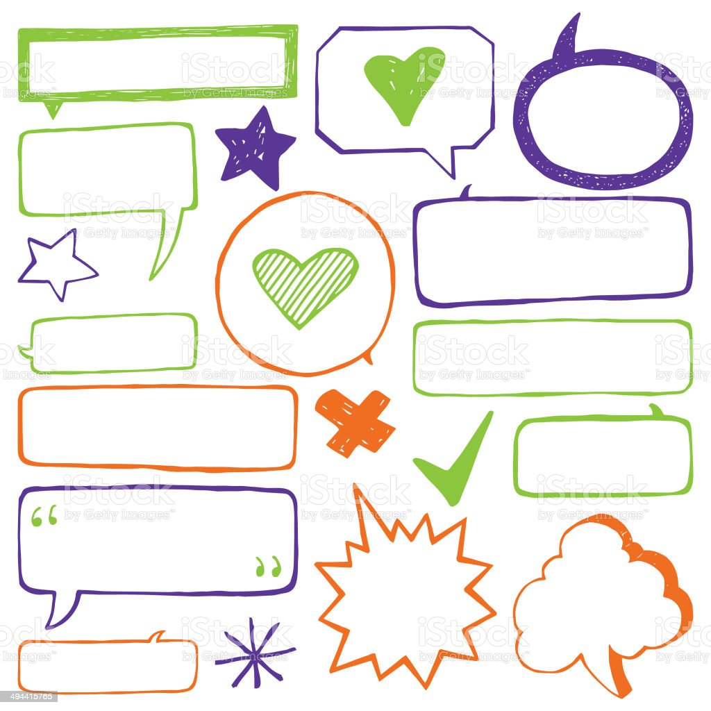 Speech Bubble Set vector art illustration