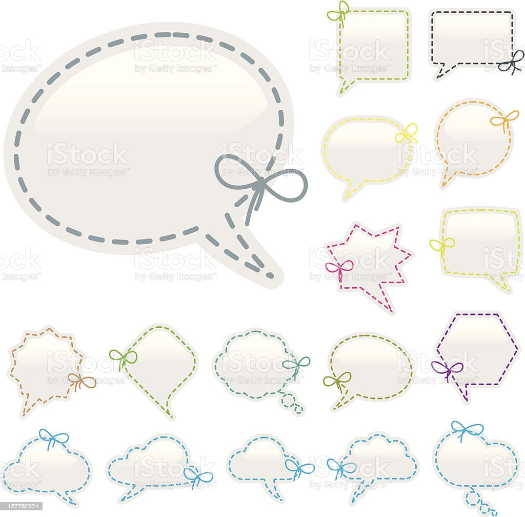 Speech bubble sewing royalty-free stock vector art