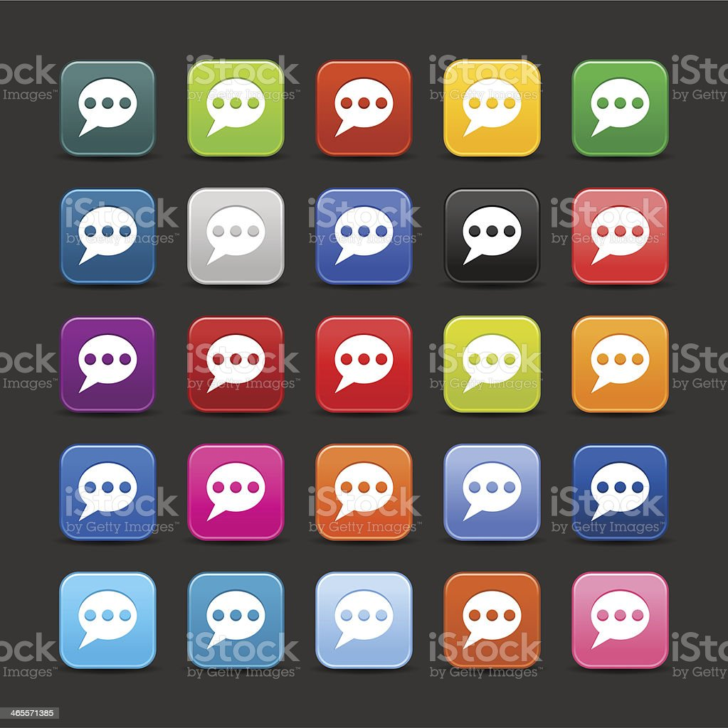Speech bubble sign rounded square icon chat room web button royalty-free stock vector art