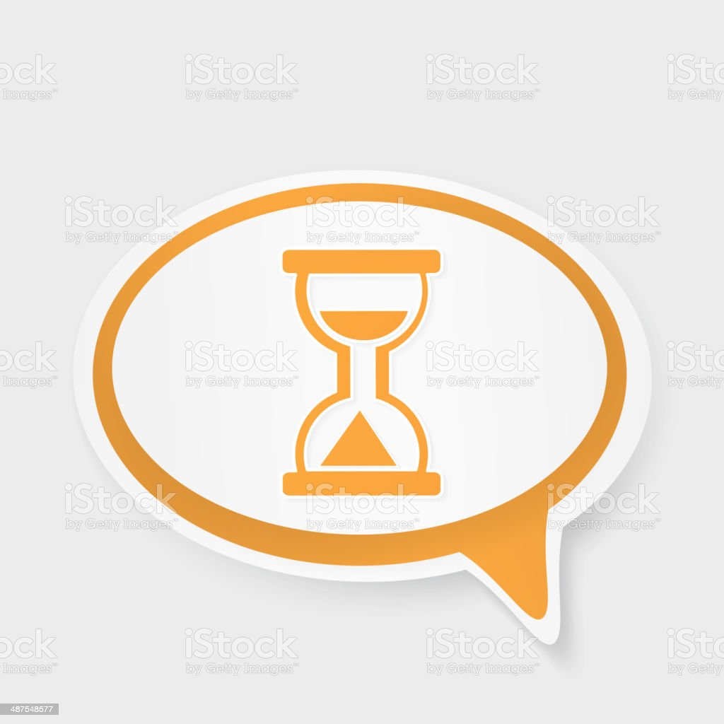 speech bubble time goes by royalty-free stock vector art